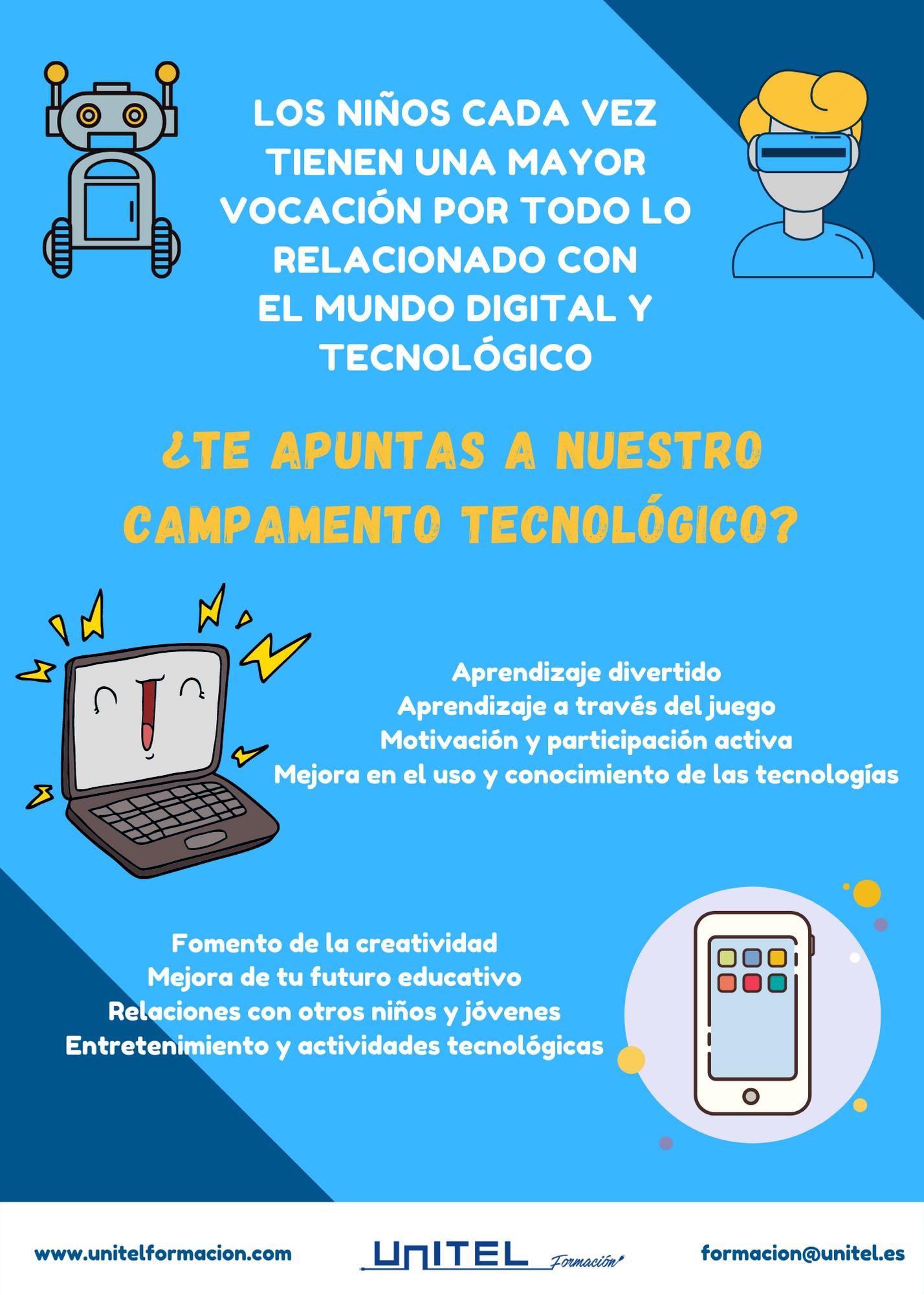 Unitel Formación lanza Campamento Tecnológico para niños