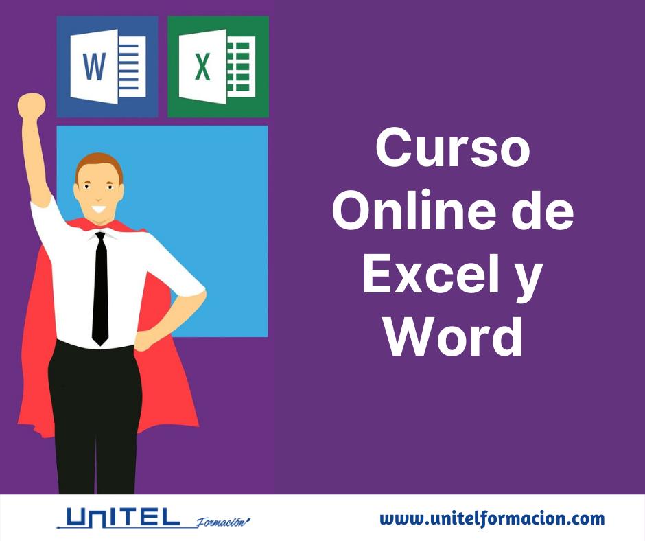 Curso de Word y Curso de Excel en modalidad teleformación