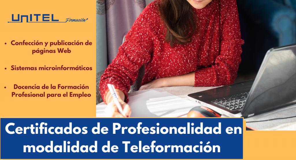 certificado de profesionalidad en modalidad de teleformacion
